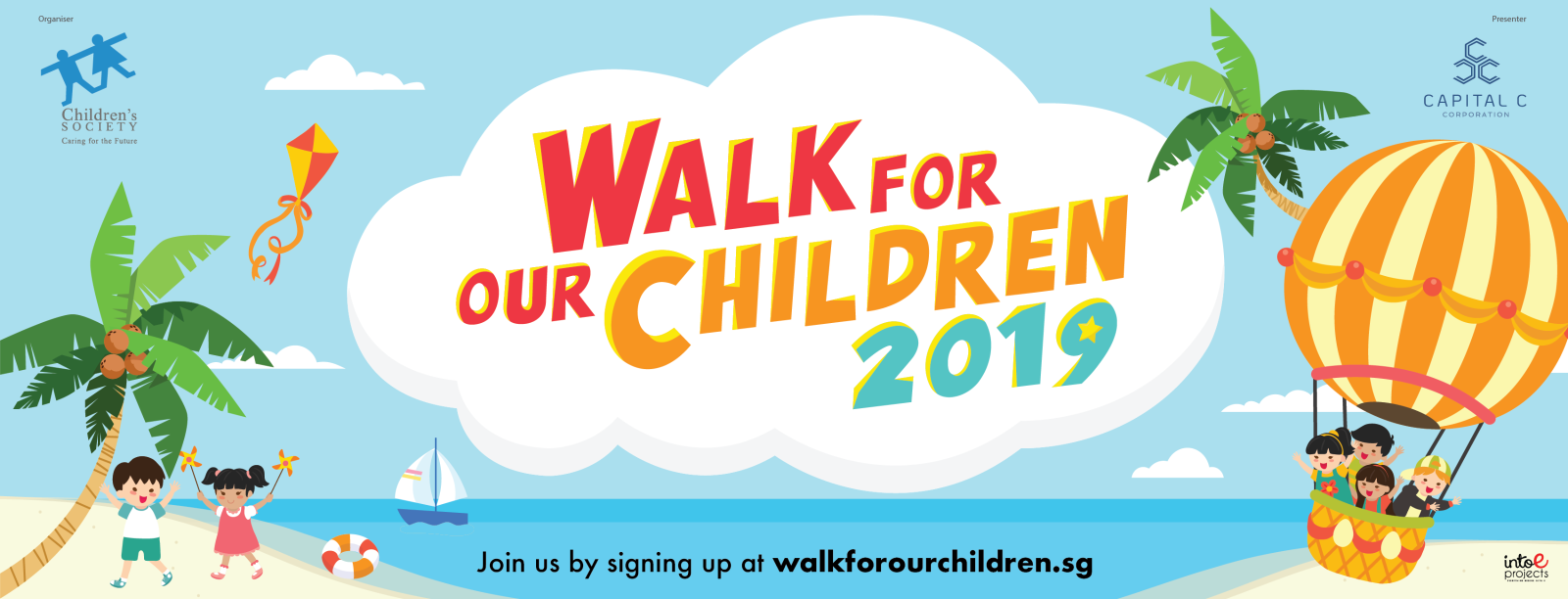 Walk for our Children 2019 Banner - Singapore Children's Society