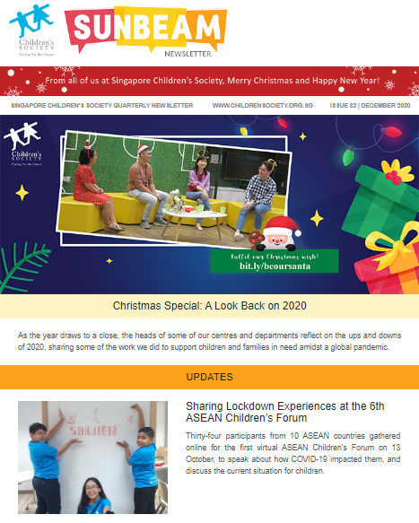 Sunbeam Newsletter Dec 2020