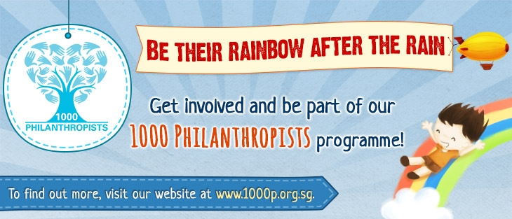 1000 Philanthropists Banner - Singapore Children's Society